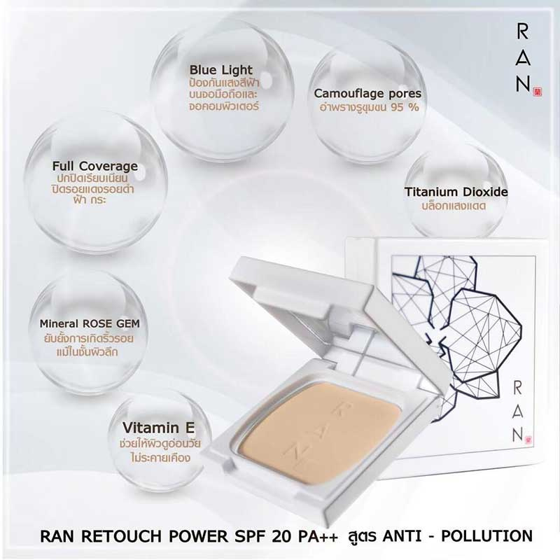 02 RAN Anti Pollution Mini Powder SPF20 7 g #01