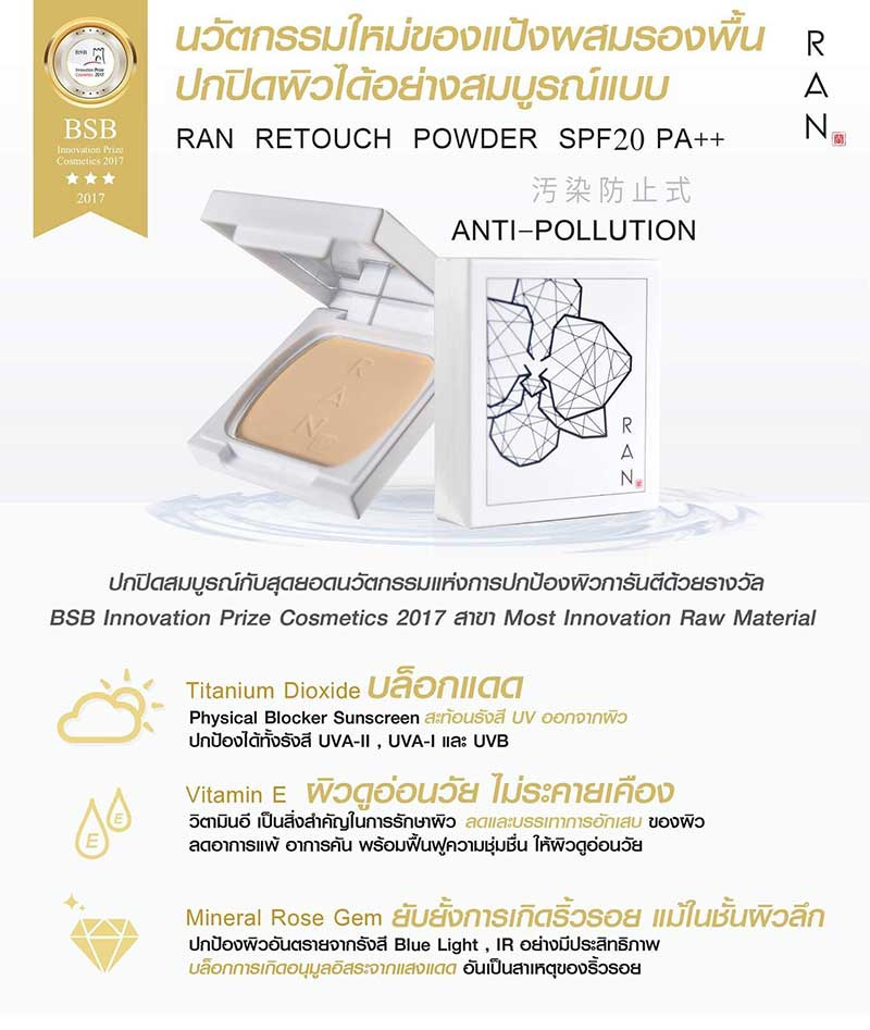 03 RAN Anti Pollution Mini Powder SPF20 7 g #01