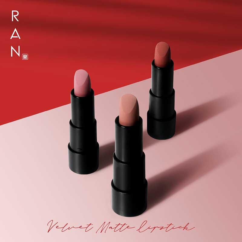 01 RAN Velvet Matte Lipstick No1.Obara