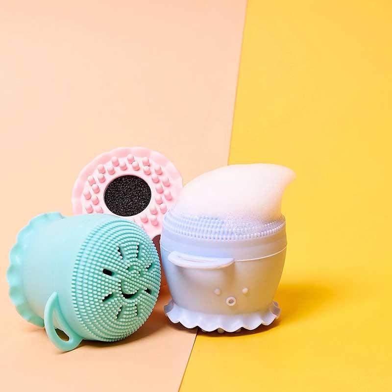 03 CBG Devices ซิลิโคนฟองน้ำขัดผิวหน้า Let's Scrub Sponge