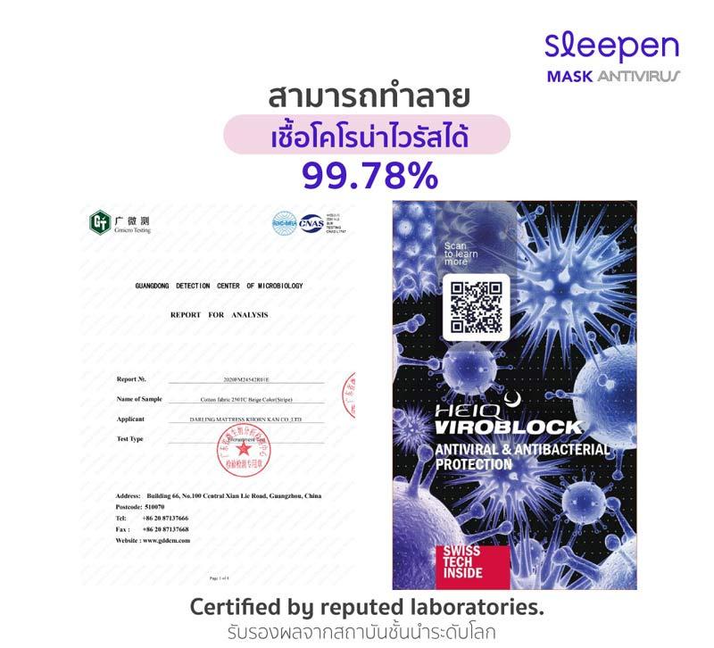 Sleepen หมอนหนุนสุขภาพ 2 ช่อง แอนตี้ไวรัส