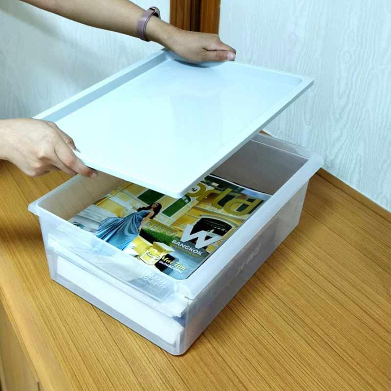 Double lock กล่องพลาสติก เก็บของอเนกประสงค์ ฝาครอบ รุ่น 5122 ความจุ 10.5 ลิตร