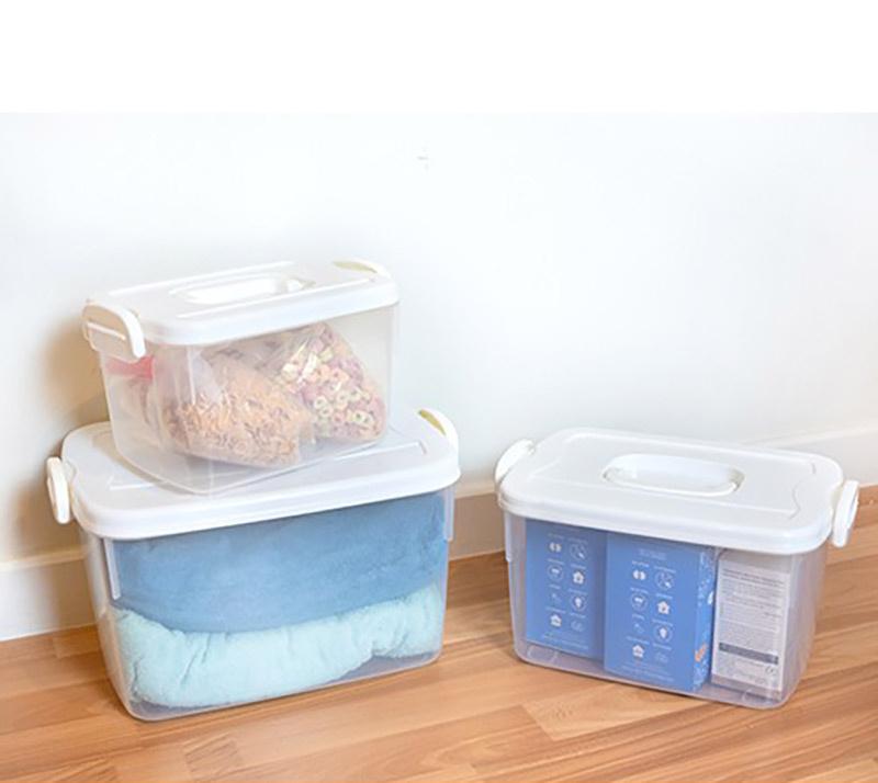 J.C.J. กล่องพลาสติก เก็บของอเนกประสงค์ หูหิ้ว รุ่น 2551 ความจุ 5 ลิตร
