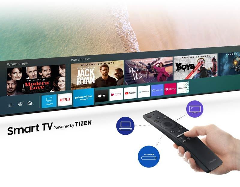 SAMSUNG Crystal UHD 4K Smart TV ขนาด 55 นิ้ว รุ่น UA55TU8000KXXT