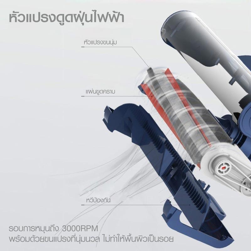 Deerma เครื่องดูดฝุ่นถูพื้นไร้สายอเนกประสงค์ 2 in 1 รุ่น VC20 PRO