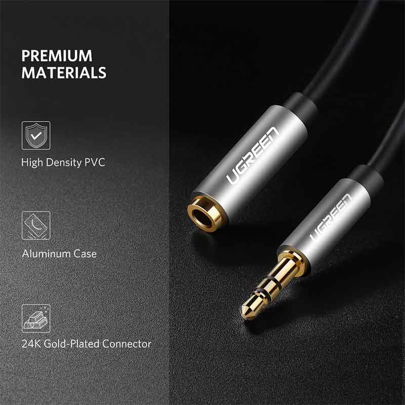 Ugreen รุ่น 10594 สายแจ๊ค 3.5mm male to female audio cable 2M