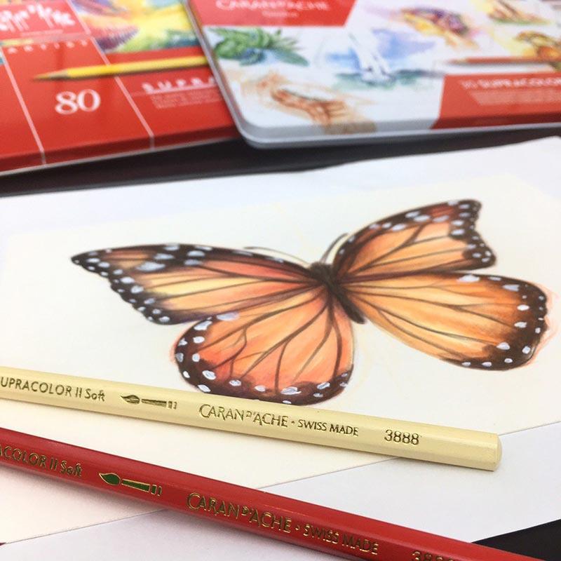 Caran D'Ache ดินสอสีระบายน้ำ Supracolor 80 สี 3888.380