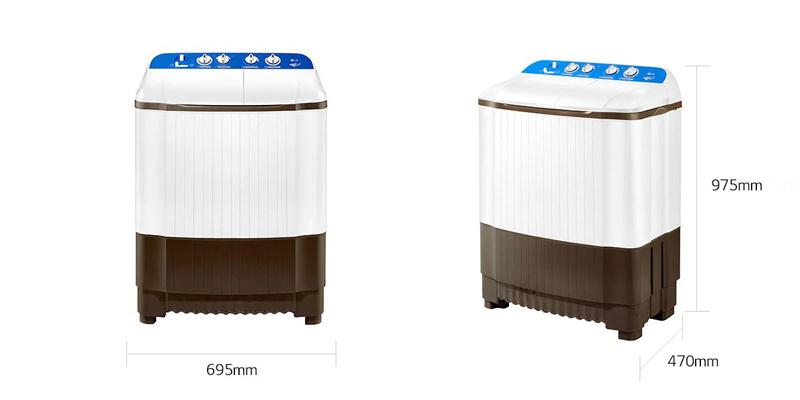 LG เครื่องซักผ้า 2 ถัง 8 กิโลกรัม รุ่น TT08NOMG