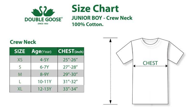 ตราห่านคู่ เสื้อคอกลมเด็กชาย JB003 สีขาว