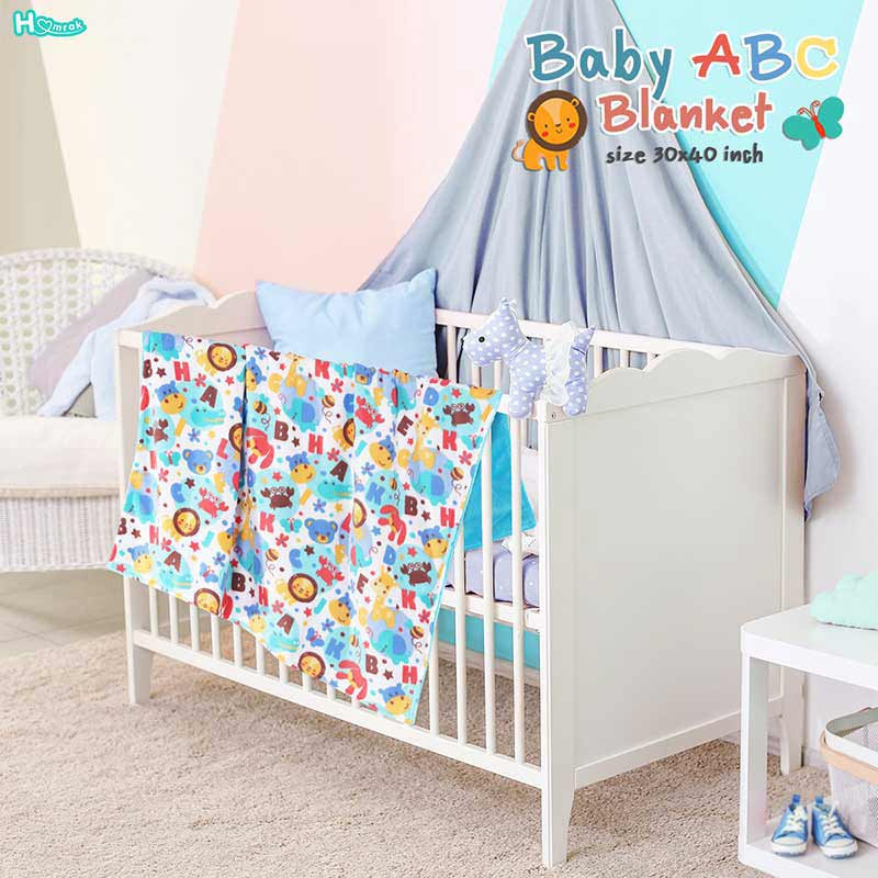 Homrak ผ้าห่ม Baby abc 30x40 นิ้ว