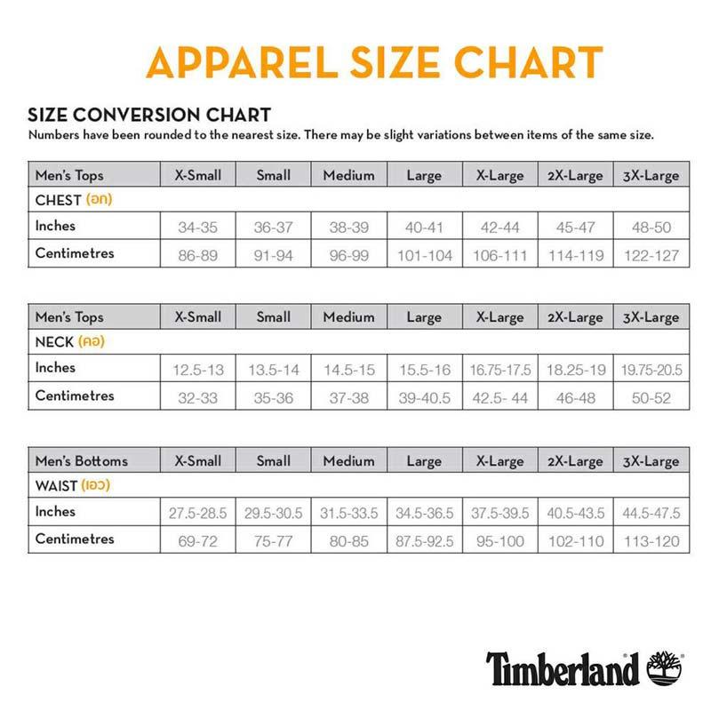 Size Timberland