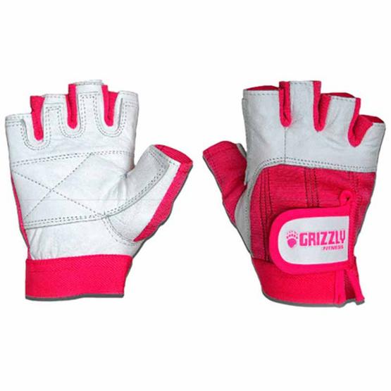 Grizzly Fitness WOMEN PAWS PINK ถุงมือหนังแท้ สีชมพู