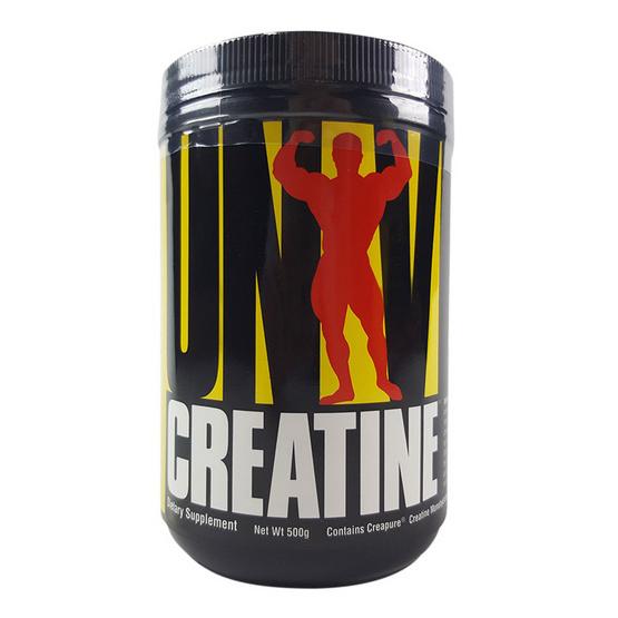 Universal Creatine Powder 500g. เพิ่มกำลัง ความแข็งแรง ทนทาน และลดอาการเมื่อยล้าของกล้ามเนื้อ