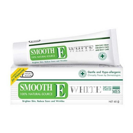 Smooth E ครีมบำรุงผิวหน้า Plus White 60 กรัม