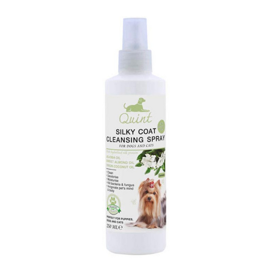 Quint สเปรย์ทำความสะอาดสำหรับสุนัขและแมว กลิ่นข้าวหอมมะลิ 250 ml.