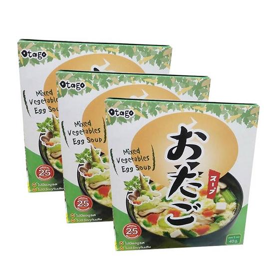 โอทาโกะ ซุปไข่ผสมผักรวม รุ่น กล่อง 40g. (แพ็ค3)