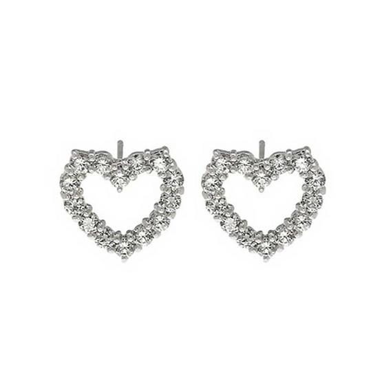 Jewelry buffet ต่างหูหัวใจฝังเพชร JXE0006901