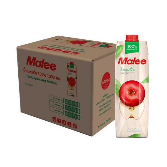 มาลี น้ำแอปเปิ้ล100% ลิตร (ยกลัง 12 กล่อง)