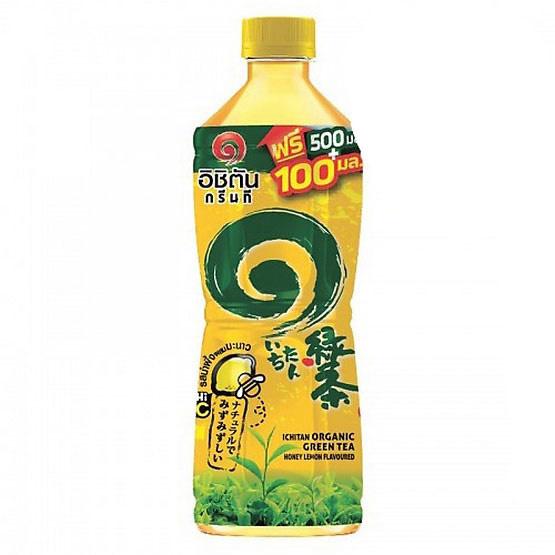 อิชิตันกรีนที รสน้ำผึ้งมะนาว 600 มล. (ยกลัง 24 ขวด)