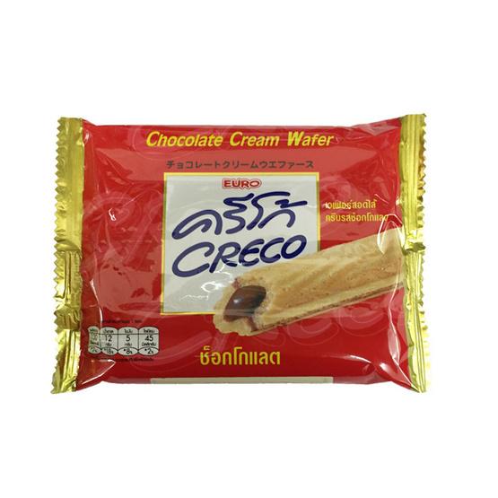 Creco ครีโก้ เวเฟอร์ สอดไส้ครีม รสช็อกโกแลต ขนาด 28 g. (12 ชิ้น)