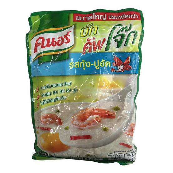 Knorr คนอร์ บิ๊ก คัพโจ๊ก โจ๊กกึ่งสำเร็จรูป รสกุ้ง-ปูอัด (ซอง) ขนาด 55 g. (4 ชิ้น)