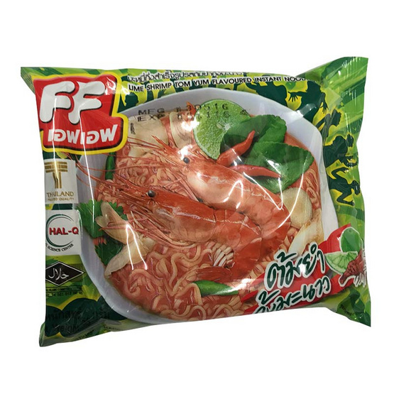 FF เอฟ เอฟ บะหมี่กึ่งสำเร็จรูป รสต้มยำกุ้งมะนาว (ซอง) ขนาด 55 g. (30 ชิ้น)