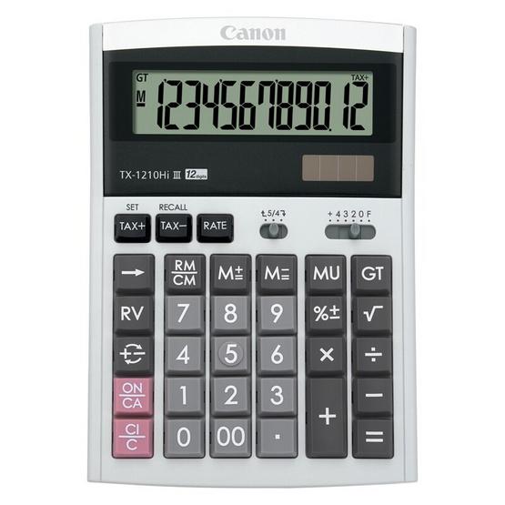 Canon Desktop Calculator รุ่น TX-1210 Hi lll