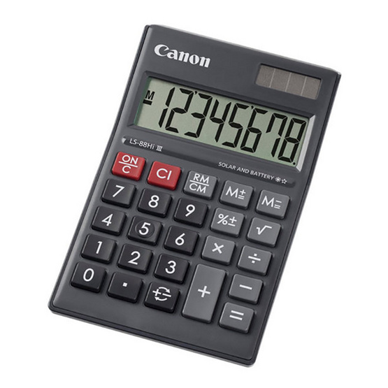 Canon Mini Desktop Calculator รุ่น LS-88 Hi lll Black