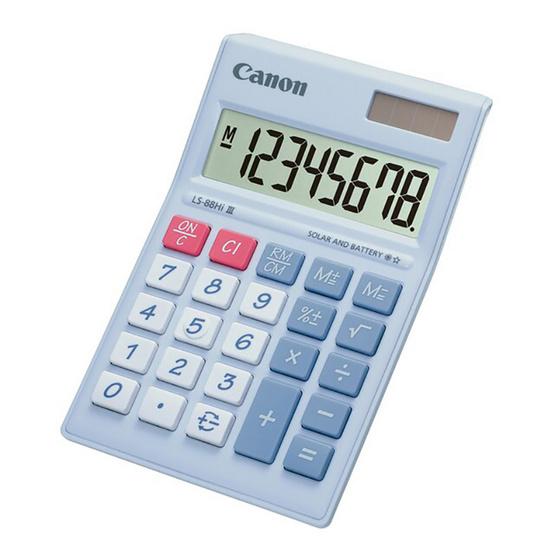 Canon Mini Desktop Calculator รุ่น LS-88 Hi lll Purple