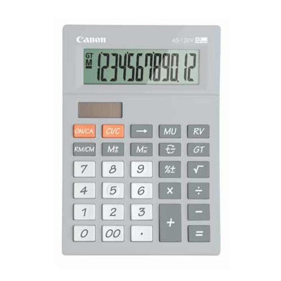 Canon Desktop Calculator รุ่น AS-120V Grey