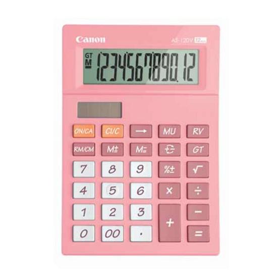 Canon Mini Desktop Calculator รุ่น AS-120V Pink