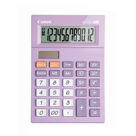 Canon Mini Desktop Calculator รุ่น AS-120V Purple