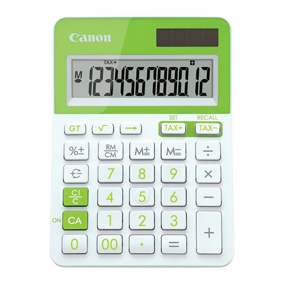 Canon Mini Desktop Calculator รุ่น LS-123T Green
