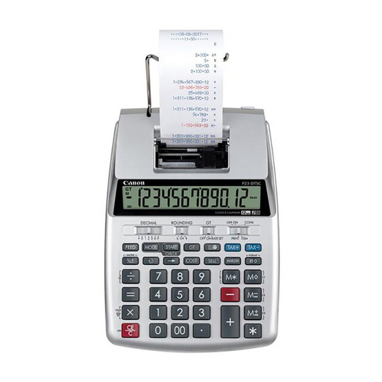 Canon Printing Calculator รุ่น P23-DTSC