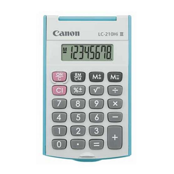 Canon Handheld Calculator รุ่น LC-210Hi lll Blue