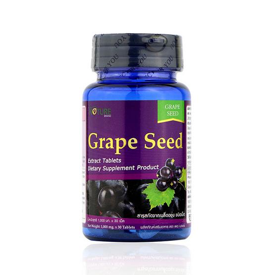 The Nature Grape Seed 1,000 สารสกัดจากเมล็ดองุ่น ต่อต้านอนุมูลอิสระ บรรจุ 30 เม็ด