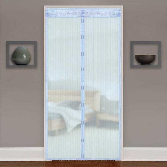 WSP ม่านประตูกันยุงและแมลง ขนาด 90x210 ซม. สีฟ้า