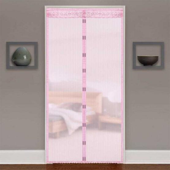 WSP ม่านประตูกันยุงและแมลง ขนาด 90x210 ซม. สีชมพู