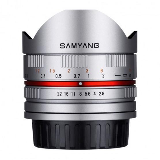 Samyang Lens 8mm / F2.8 II Fuji X Silver