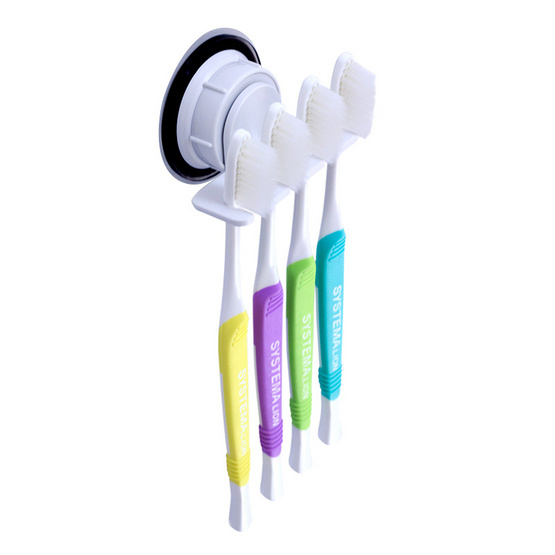 DeHUB ที่วางแปรงสีฟัน 4 แปรงสีขาว THT4-WH40(Super Suction)