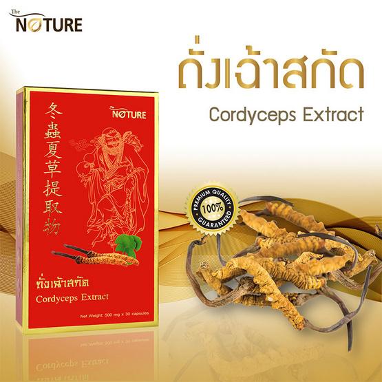 The Nature Cordyceps Extract - Ginkgo Extract ถั่งเฉ้า และใบแปะก๊วยสกัด บรรจุ 30 แคปซูล