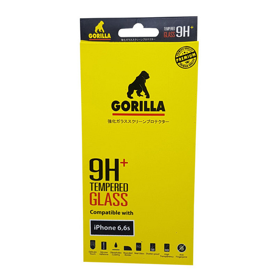 Gorilla Tempered Glass iPhone 6 /6s  normal (ไม่เต็มขอบ)