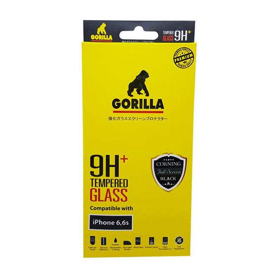 Gorilla Tempered Glass iPhone 6 TG-FULL Black