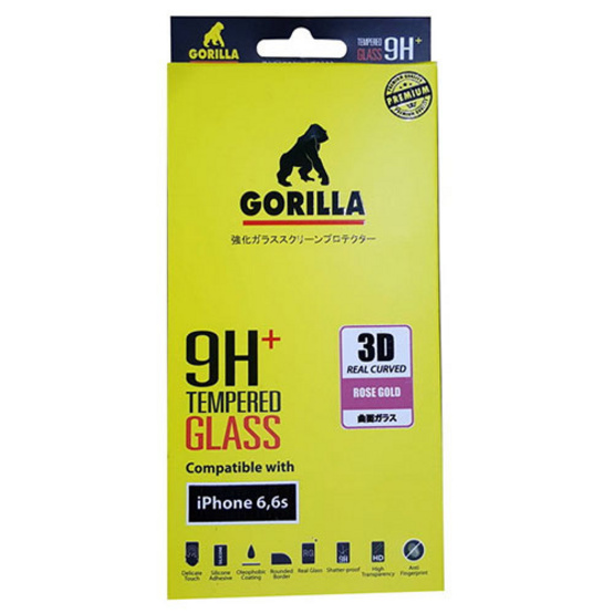 Gorilla Screen Protection Full Cover iPhone 6 / 6S 3D Real Curve