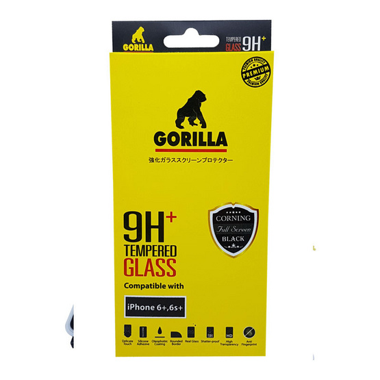 Gorilla Film Glass iPhone 6+ TG-FULL Black