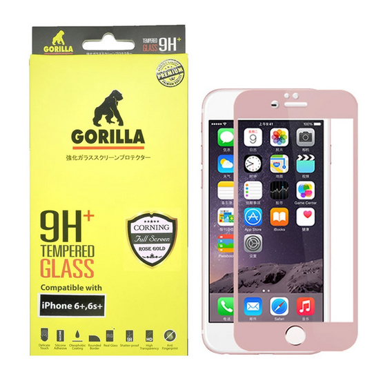 Gorilla Tempered Glass iPhone 6+ TG-FULL Rose Gold
