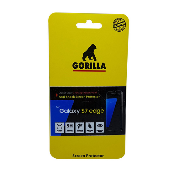 Gorilla Film Anti-shock Samsung S7 edge Tpu film ระดับ 5H+