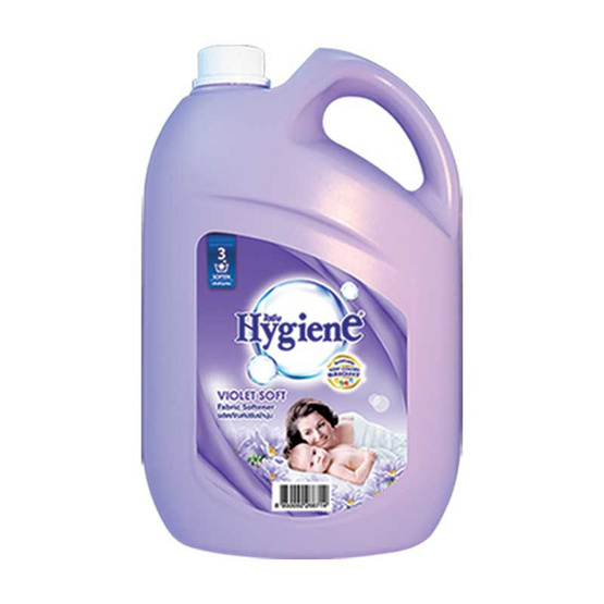 ไฮยีน ผลิตภัณฑ์ปรับผ้านุ่ม กลิ่นไวโอเล็ต ซอฟท์ 3,500 มล. สีม่วง