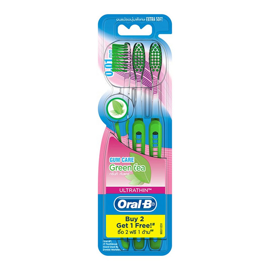 Oral B UltraThin Gum Care Green Tea Pack3 [Extra Soft]