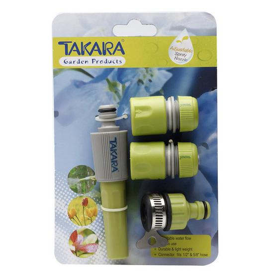 TAKARA DGT2001 หัวฉีดน้ำทาการ่า รุ่น มาตราฐานปรับพร้อมชุดสวมเร็ว